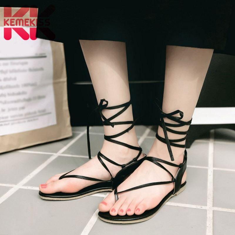 KemeKiss Size 31-43 Women High Heel Sandals Platform Open Toe Hollow ... 8bcd27d8e51e