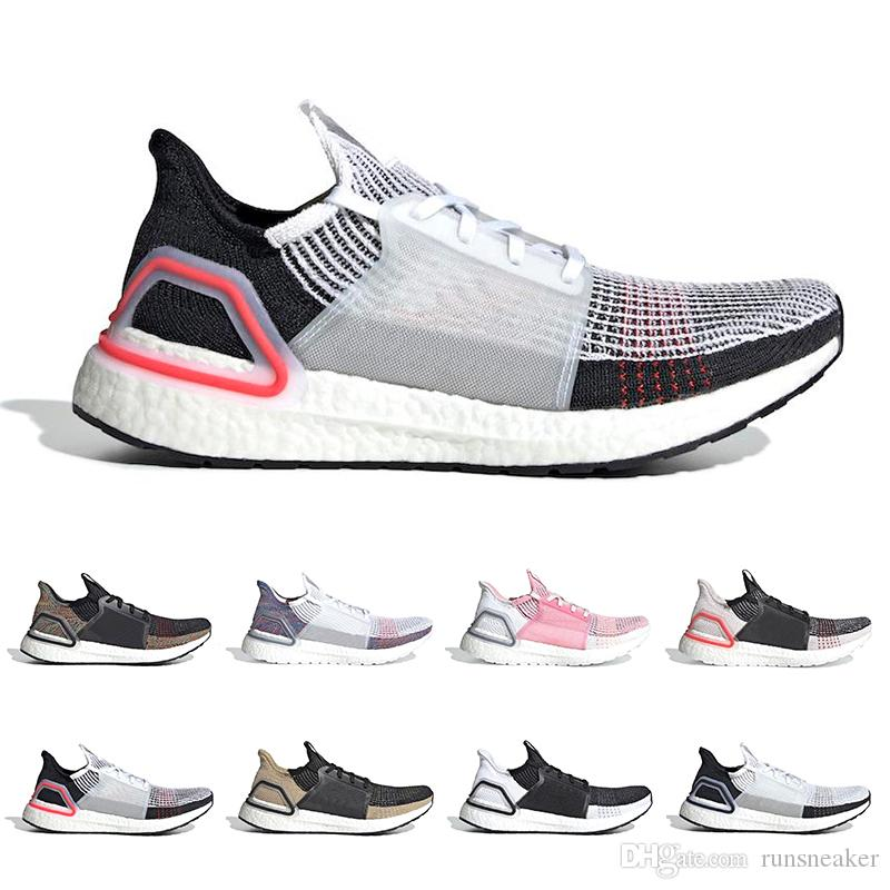 c25ed7bc40a89 2019 Ultra Boost Cloud White And Black Mens Running Shoes Dark Pixel Refract  Primeknit Sports Trainers Ultraboost Designer Sneakers Boys Running Shoes  ...