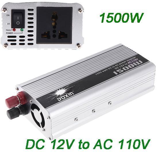 2016 Nuovo 1500 W DC 12 V a AC 110 V Portable Car Power Inverter Convertitore convertitore trasformatore auto camion veicolo