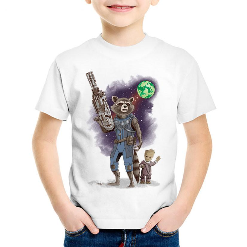 4f670a5a2a3 Children Print Guardians of the Galaxy 2 T-shirts Kids Warrior Protection  Baby Clothes Boys/Girls Casual Tops Baby Tees,HKP2213