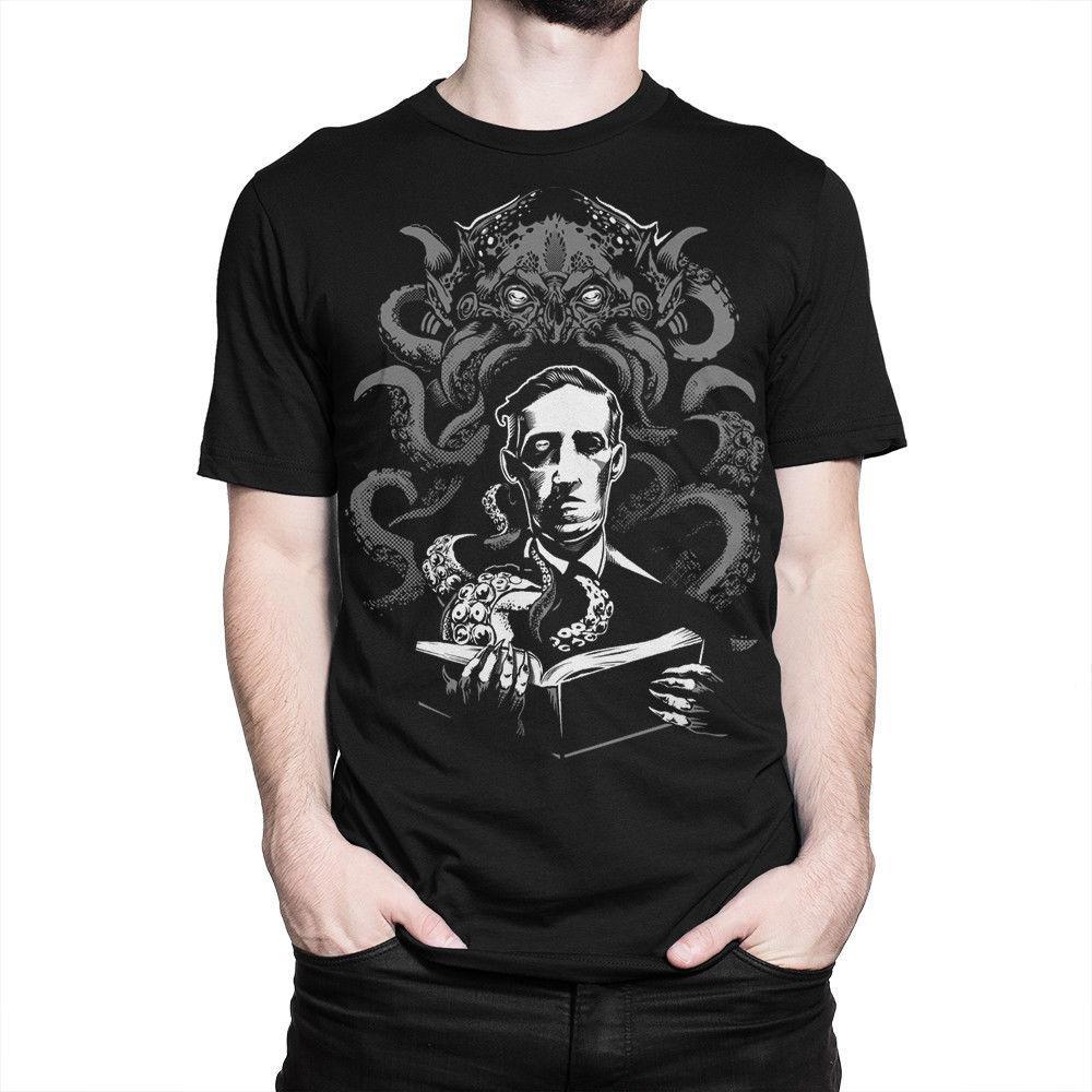 HP Lovecraft Original Art T-shirt, Cthulhu Horror Tee, Men s Women s All  sizes size discout hot new tshirt top free shipping t-shirt
