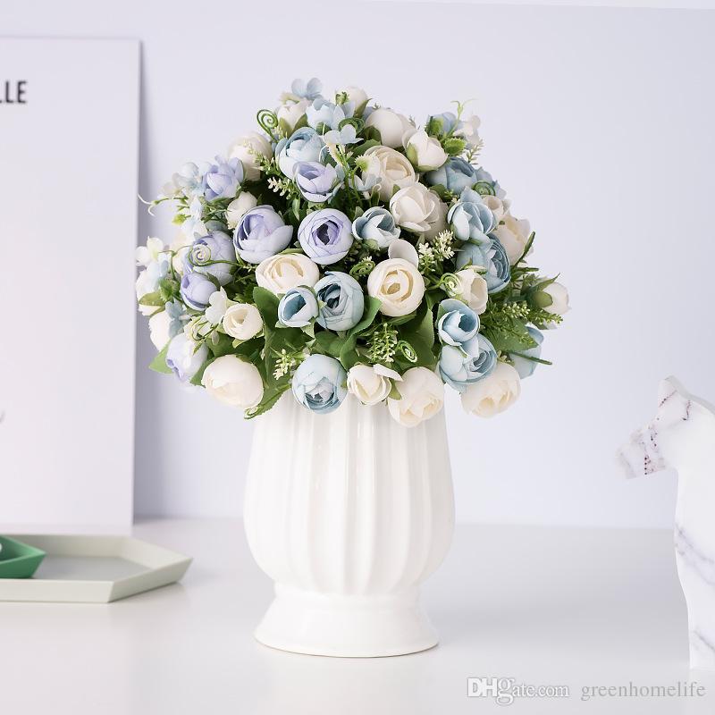 446c32a813 Compre Arreglo Floral Artificial Bouquet Boda Novia Con Flores Decoración  Del Hogar Flor Sala De Estar Mesa Lugar Flores A $1.96 Del Greenhomelife |  DHgate.