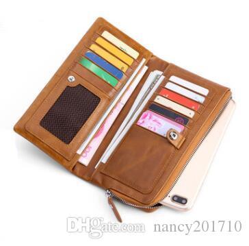 2efd16fb22 2019 new men wallets famous brand purses Top Genuine leather mens wallet  luxury coin purse zipper wallets