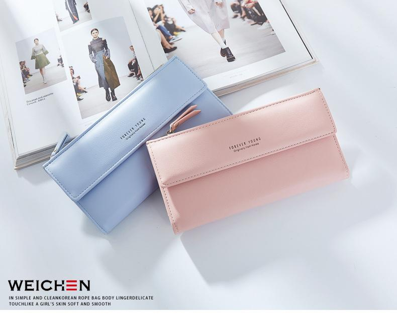 WEICHEN Big Capacity Women Wallets With Zipper Cell Phone Pocket Coin Purses Card Holder Female Wallet Long Brand Ladies Purse