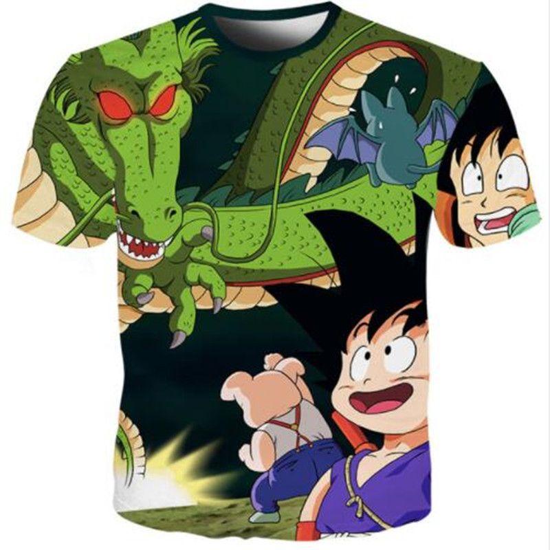 Newest Men Womens Fashion Anime Dragon Ball Z Goku 3D Print Harajuku Style  T Shirt Tops Plus Size Style Outfit Funny Summer T Shirt U1225 T Shirt  Makes ... 760306bd07