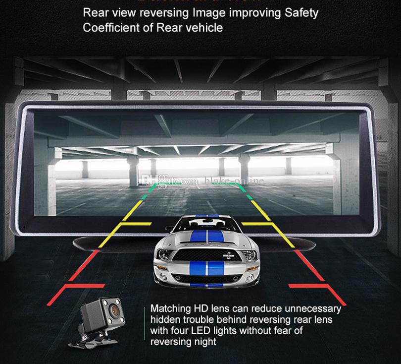 4G 8-Zoll-Auto-DVR GPS-Navigation Touchscreen 16GB Android 5.1 WiFi Navigator 1080p Dash Rückansicht Kamera, Parkmonitor