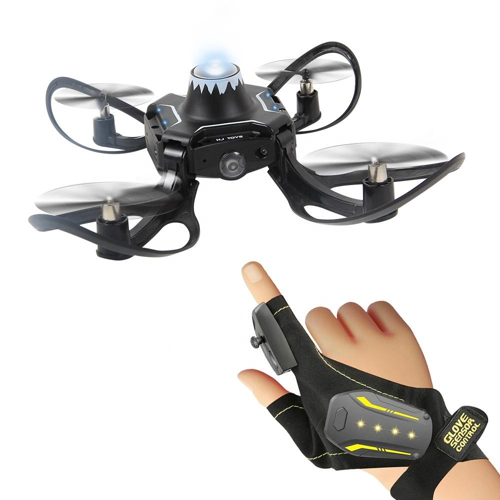2019 Newest Foldable RC Mini Drone Gesture Sensor Control Drone Micro RC Helicopter With HD Camera Altitude Hold Toys for Kids