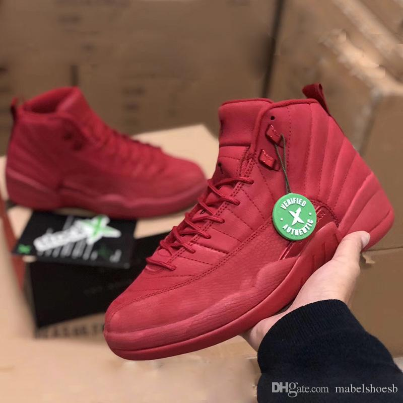 size 40 bf92b b5a2e Bulls 12 Basketball Shoes Gym Red 12s Sport Sneakers Mens Fashion Trainer  Black Friday Release Top Quality Double Boxed