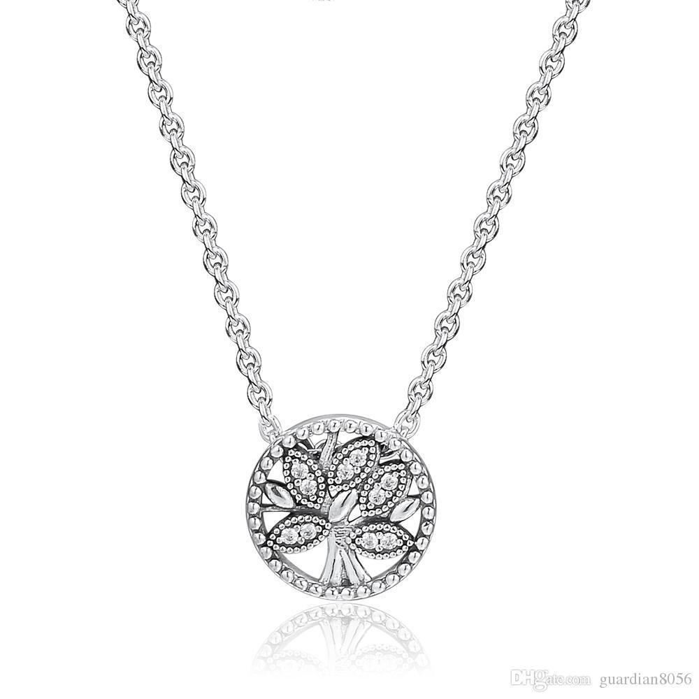 2019 nova chegada da árvore da vida do dia das mães colares 925 pingentes de prata esterlina colar de moda pingente serve para mulheres jóias fazendo