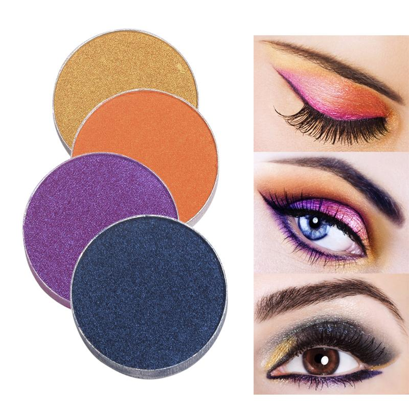 Color Salon Diy Shimmer Eyeshadow Powder Makeup Single Pigment Brighten  Matte Pressed Eye Shadow Color Make Up Cosmetic Set