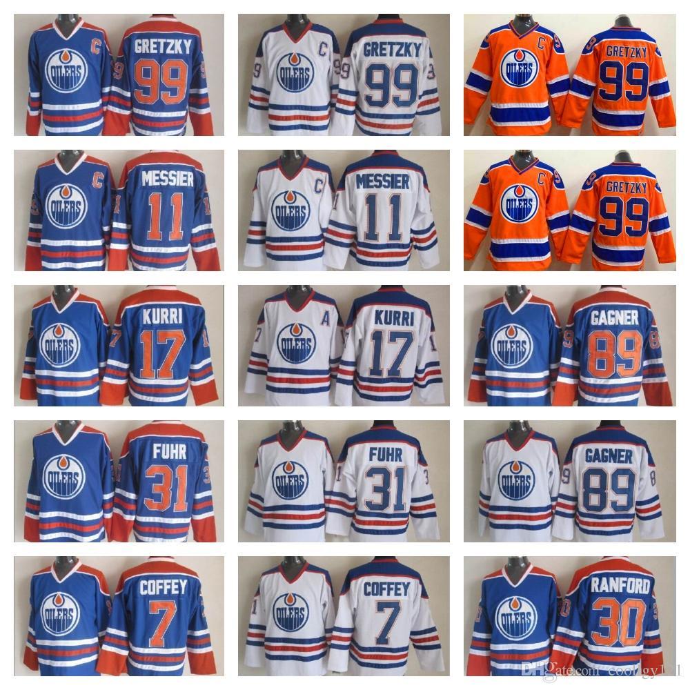 Edmonton Oilers Hockey Jersey 30 Bill Ranford 89 Sam Gagner Paul ... e1117c226