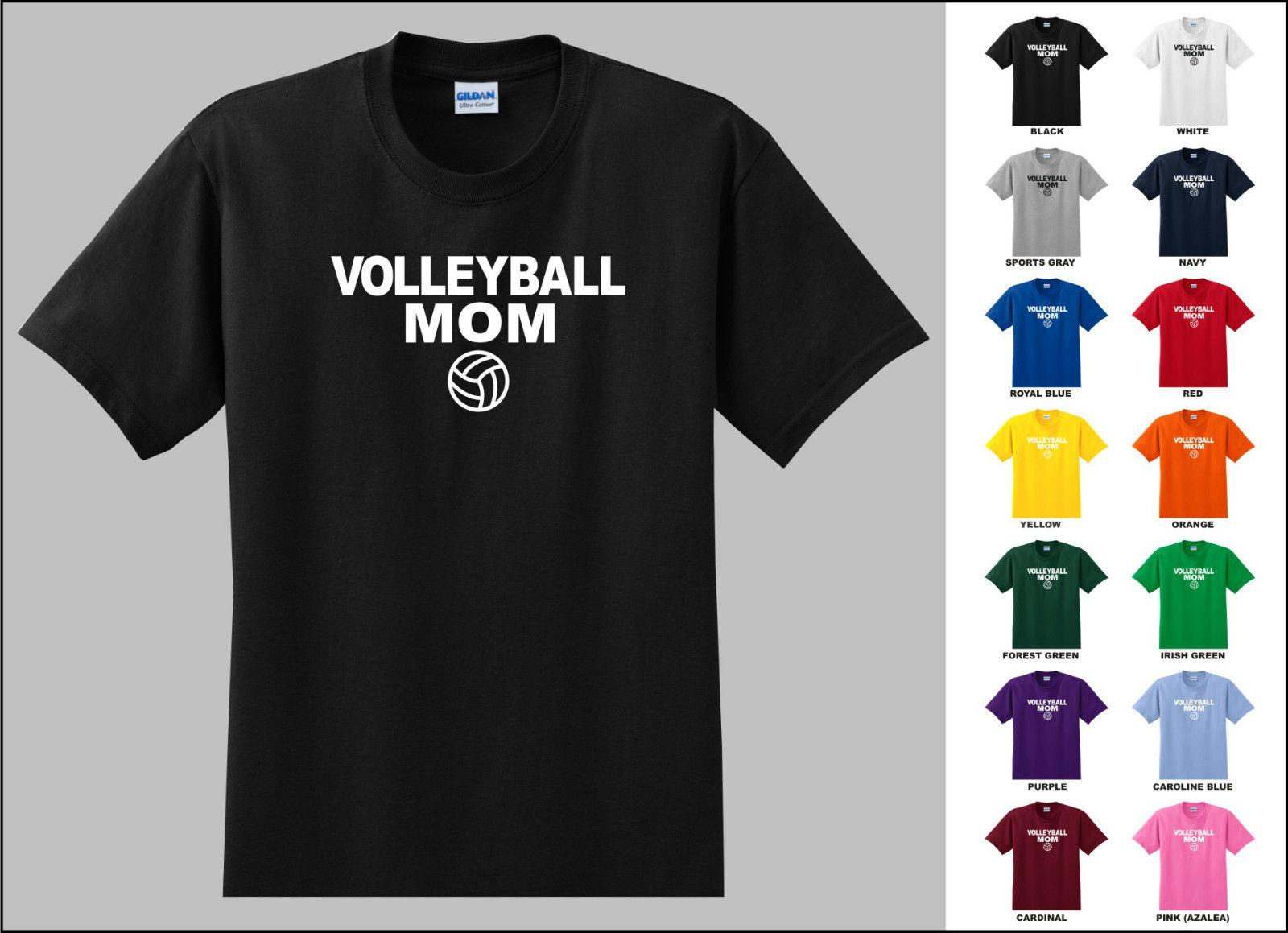 d946e873fd Volleyball Mom Volleyball Sports T-shirt Funny free shipping Unisex Casual  Tshirt top