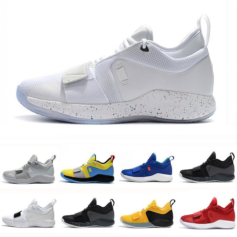 quality design 014ae 913fa 2019 PG 2.5 University Red Opti Yellow Men Basketball Shoes Racer blue  White Black Wolf Grey Mens Paul George sports sneakers