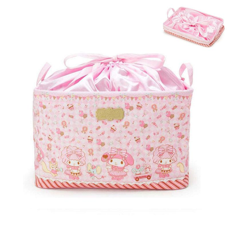 150db693a Hello Kitty And My Melody Drawstring Makeup Bag 2018 News Cosmetic Bag  Cartoon Japan Style Travel Pouch High Capacity Makeup Vanity Case Train  Cases From ...