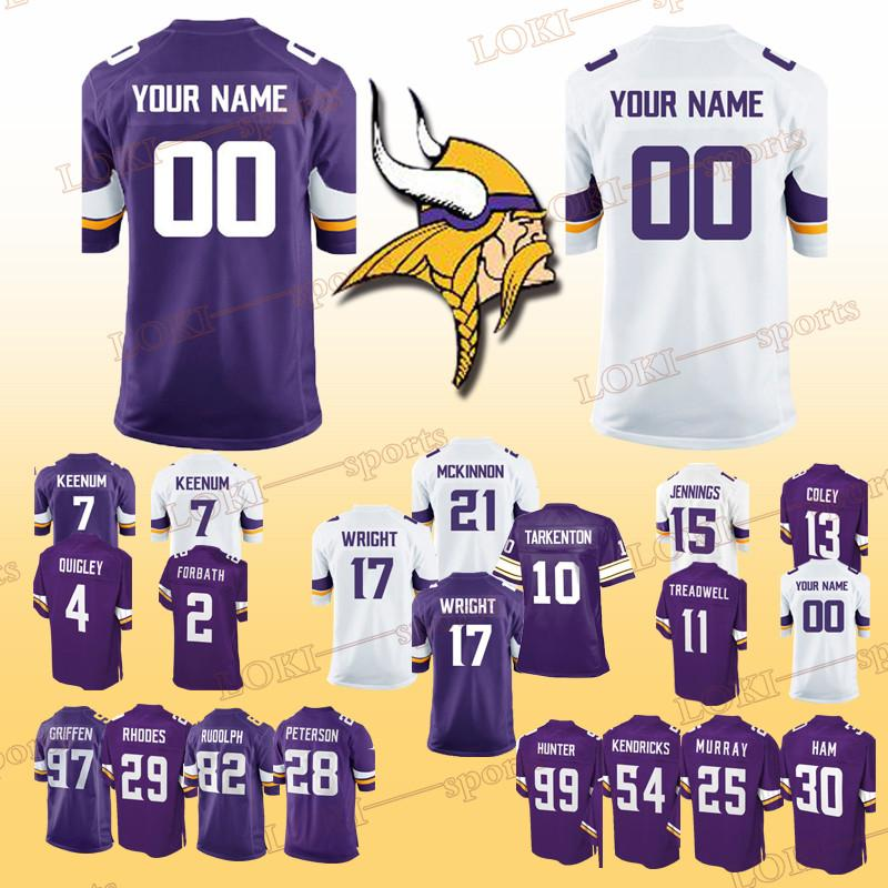 official photos a0d83 e71c9 MINNESOTA 33 VIKINGS jerseys 26 Trae Waynes 5 Teddy Bridgewater 82 Kyle  Rudolph 33 Dalvin Cook Can be customized jersey