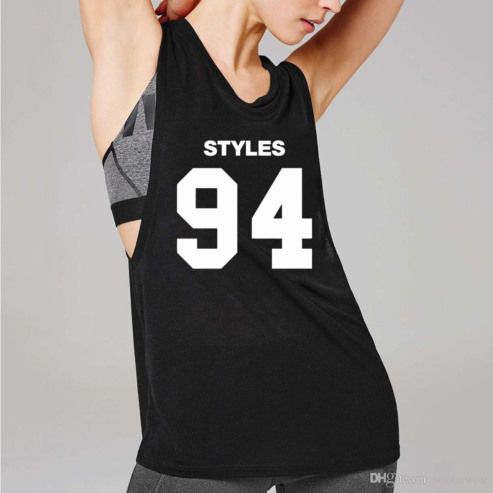 0099ddec8e299 Womens Sleeveless T Shirts Summer GYM Streetwear Letter Print Vests Tank  Tops Ladies Jogger Soft Crew Neck Tshirts Buy Tshirts The Who T Shirts From  ...
