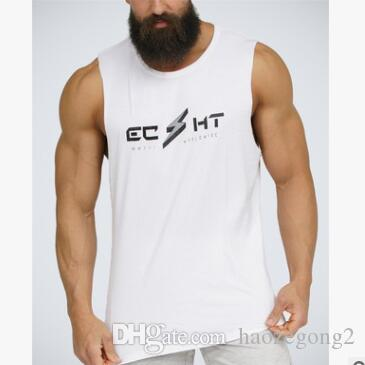 pretty nice 61477 5e8ad 2019 neue design herren gyms tank tops clothing sommer baumwolle slim fit  ärmellose shirts männer bodybuilding unterhemd golds fitness tops tees