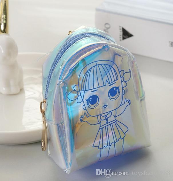5 стилей мультфильм кукла лазерная монета сумка для ключей короткий мини-кошелек наушники изменить мешок денег форма оболочки ну вечеринку пользу детям подарок сумка
