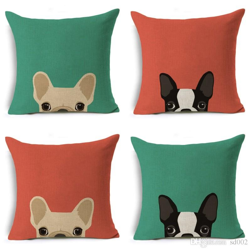 Cartoon Printing Dog Linen Pillow Case Sofa Office Cushion Cover Cute Animal Comfortable Home Textile Hot 4 1zy Ww
