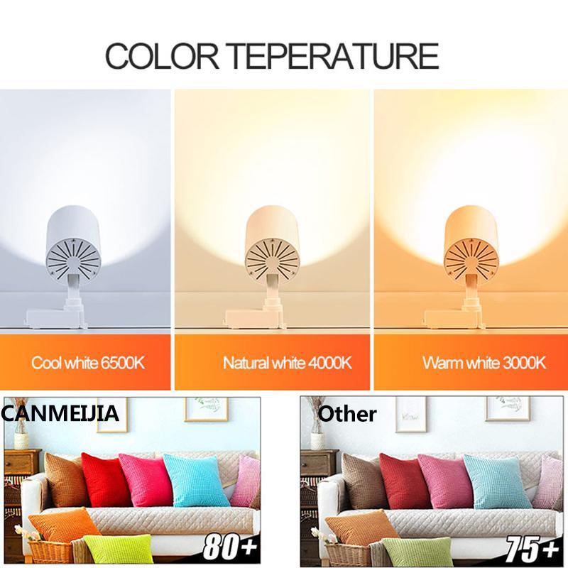 Luz de riel LED 12W 20W 30W COB Luces de lámpara de riel Focos de riel Luminaria de seguimiento Leds Luces de reflectores para tienda de ropa