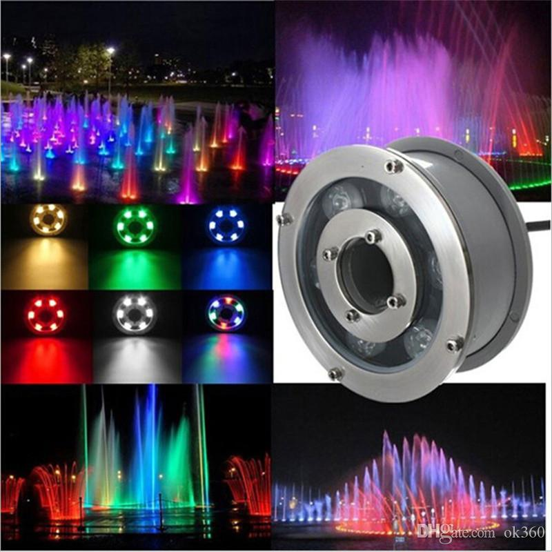 6W 9W 12W 15W 18W RGB Underwater Light swimming pool Lamp 12V 24V Underwater Lights Fountains Led Waterproof IP68