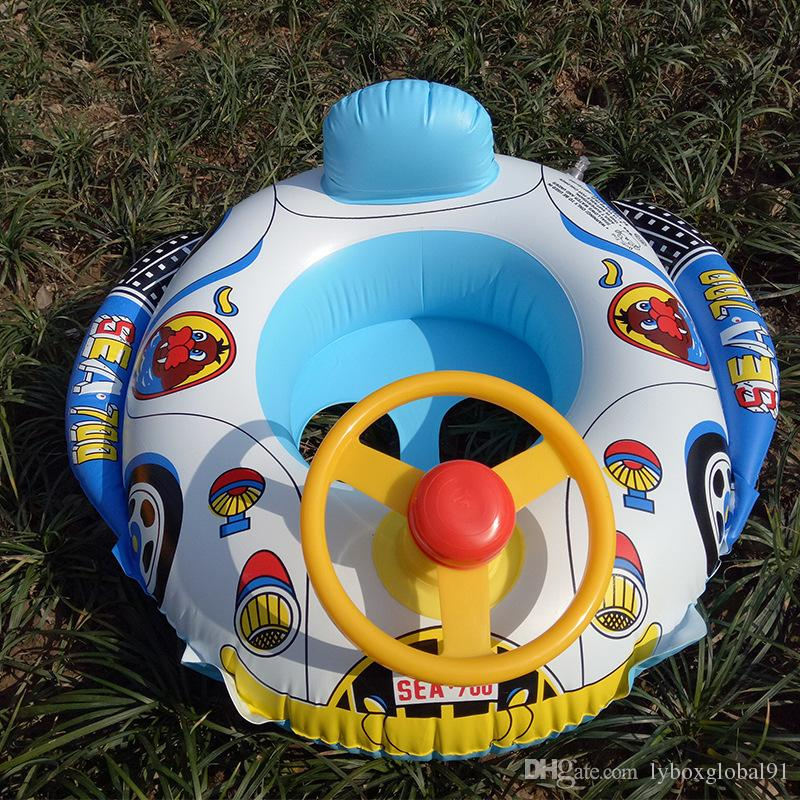 Cartoon car baby ring baby pool float inflatables floating ring swimming seat laps kids swimming rings life buoy child seat float