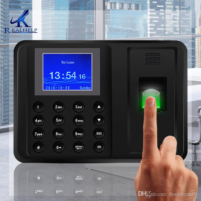 1000Fingerprint Users 2 4 TFT Biometric Fingerprint Time Attendance Clock  No need Software Employee Payroll Recorder Easy to Use
