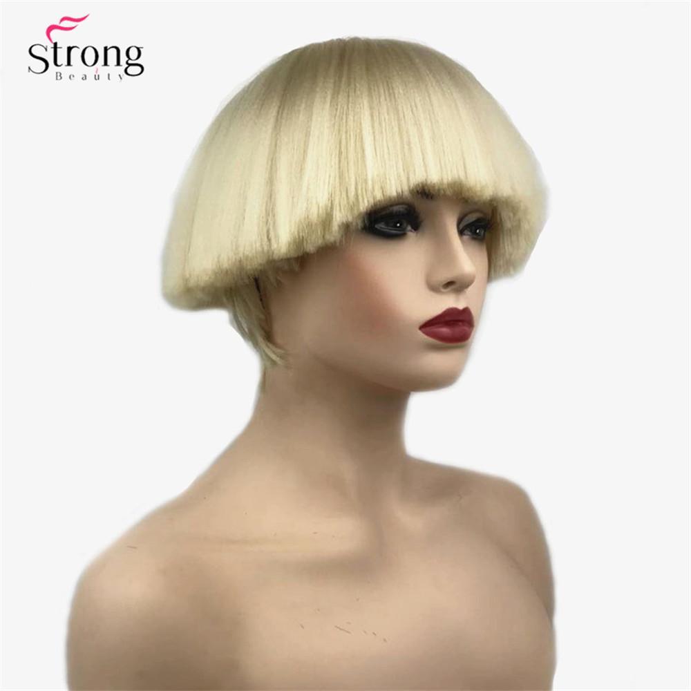 Compre Peluca Sintetica Para Mujer Cabello Corto Shroom Peinado
