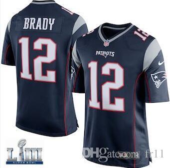 f0cdf4084 Tom Brady Jersey Super Bowl LIII New England Rob Gronkowski Patriots ...