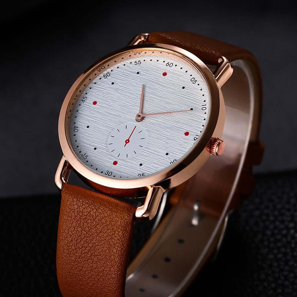 Clásica Moda Hombre Simple Digital Ojo Reloj Falso Cinturón Sin Malla Solo Escala De 6y7bfg