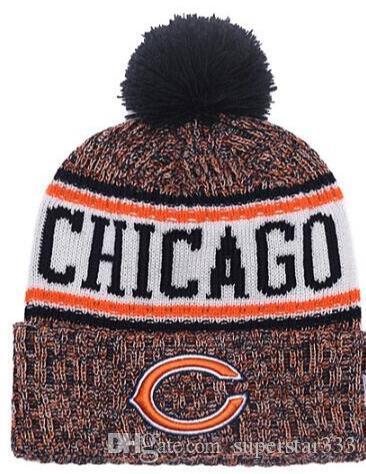 2019 Winter CHICAGO Beanie CHI Hats Men Women Knitted Beanie Wool Hat Man  Sport Knit Hat Bonnet Beanies Warm Baseball Cap Mens Tie Grey Tie From ... 410da979013