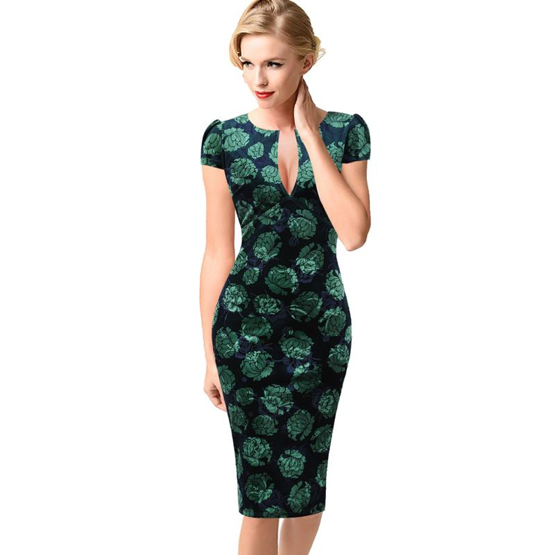 fae88199365 2019 Vfemage Womens Sexy Elegant Autumn Floral Flower Lace Vintage Tunic  Slim Casual Party Fitted Sheath Pencil Bodycon Dress 1040 Y19012201 From  Tao01