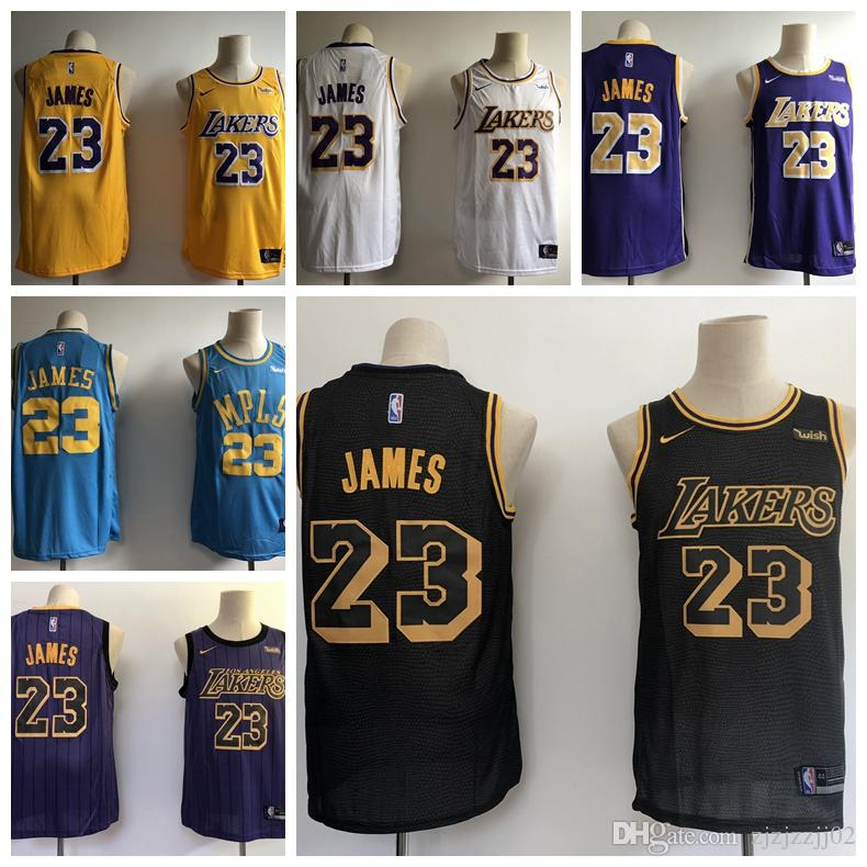 timeless design ff575 3f91a 2019 23 LeBron James Laker Jersey The City Los Angeles Kobe 24 Bryant 8  Lonzo 2 Ball Kyle 0 Kuzma Brandon 14 Ingram ball Jersey NEW