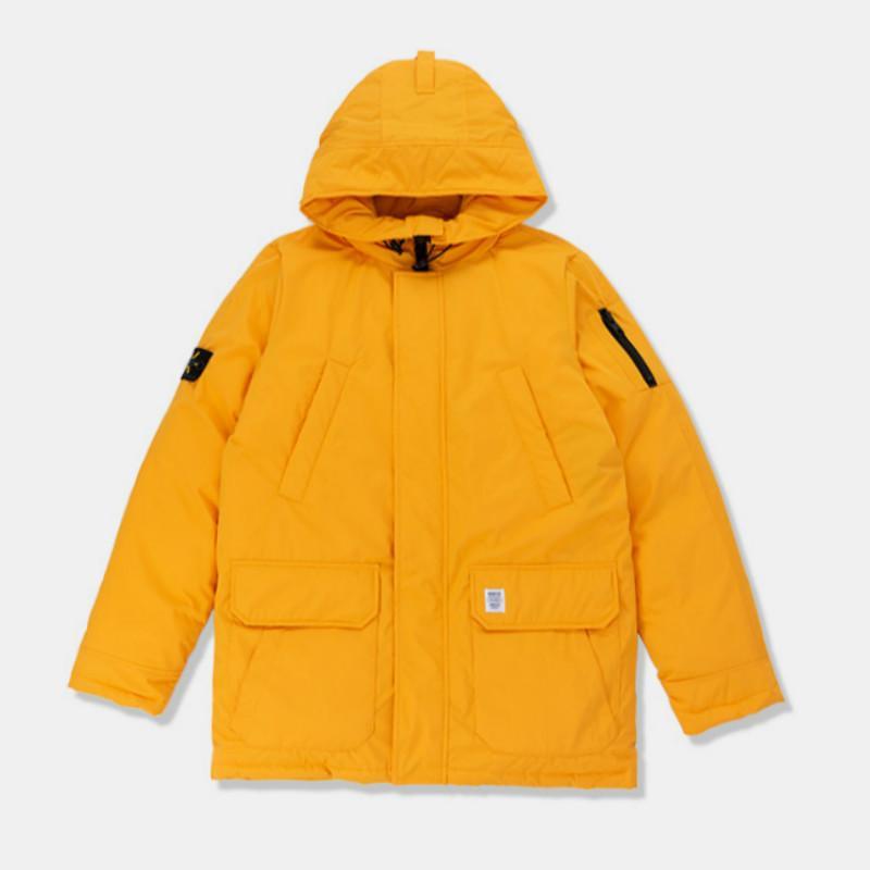 super popular 586c6 435ac Giacche invernali da uomo e cappotti Piumino bianco Piumino Uomo taglie  forti Cappotto caldo tascabile Piumino giallo e giacca verde militare da  uomo