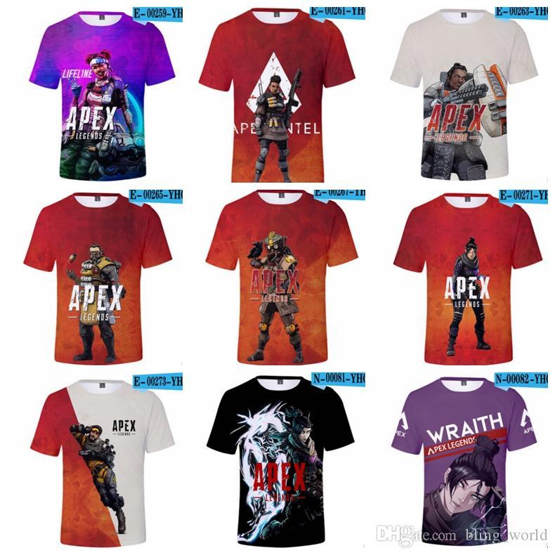 dc494aca604e2 Acheter Apex Legends Chemises 3D Enfants Imprimé T Shirt À Manches Courtes Garçons  T Shirts Casual Bébé Tops D été Vêtements Pour Enfants 25 Modèles YW2436 ...
