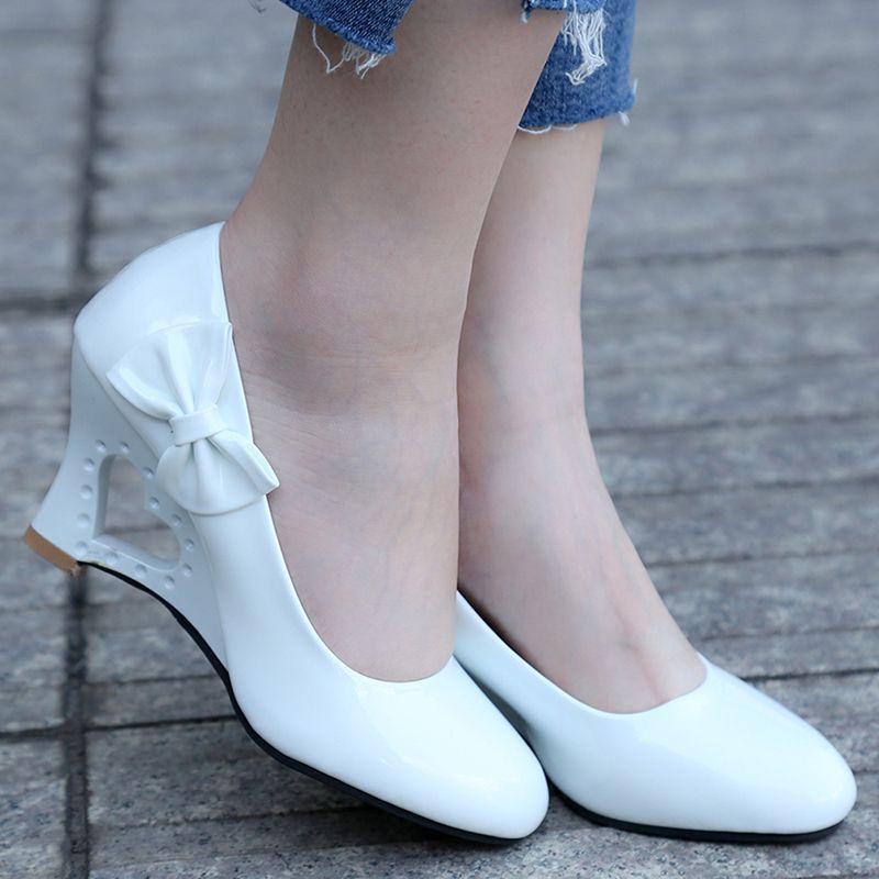 b20cc62d72172 Designer Dress Shoes Pumps Ladies Stiletto Womens High Heels Strange Heart  Heels Woman Pumps Bowtie Office Wedding Bridal Big Size 35 43 Brown Dress  Shoes ...