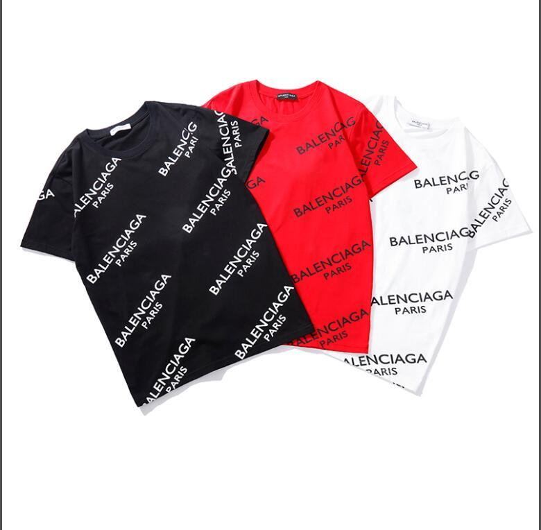 2bfcc5e1 Summer 2019 men's and women's t-shirts fashion hot style simple letters  whole body print casual short sleeve 100% cotton black red white