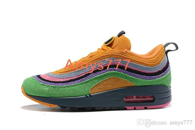 322b188c8a Mens 97 Sean Wotherspoon Coral Velvet Rainbow Color Sneakers Man Casual  Trainers Shoes 97 OG Shoes Blue Shoes Clogs For Women From  Wholesalersneaker3, ...