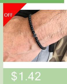 2018 New Long Tube Ball Fashion Charm Bracelet Men 6mm Beads Bracelet For Men Jewelry Gift
