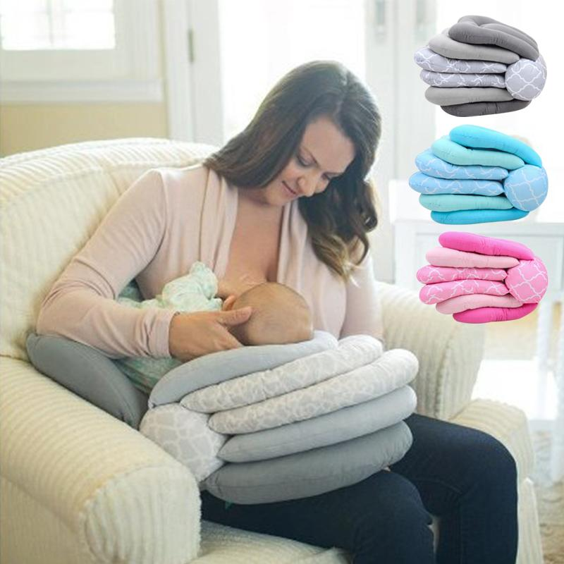 Newborn Nursing Pillow Baby Feeding Head Pad Stuffed Safety Protective Cushion