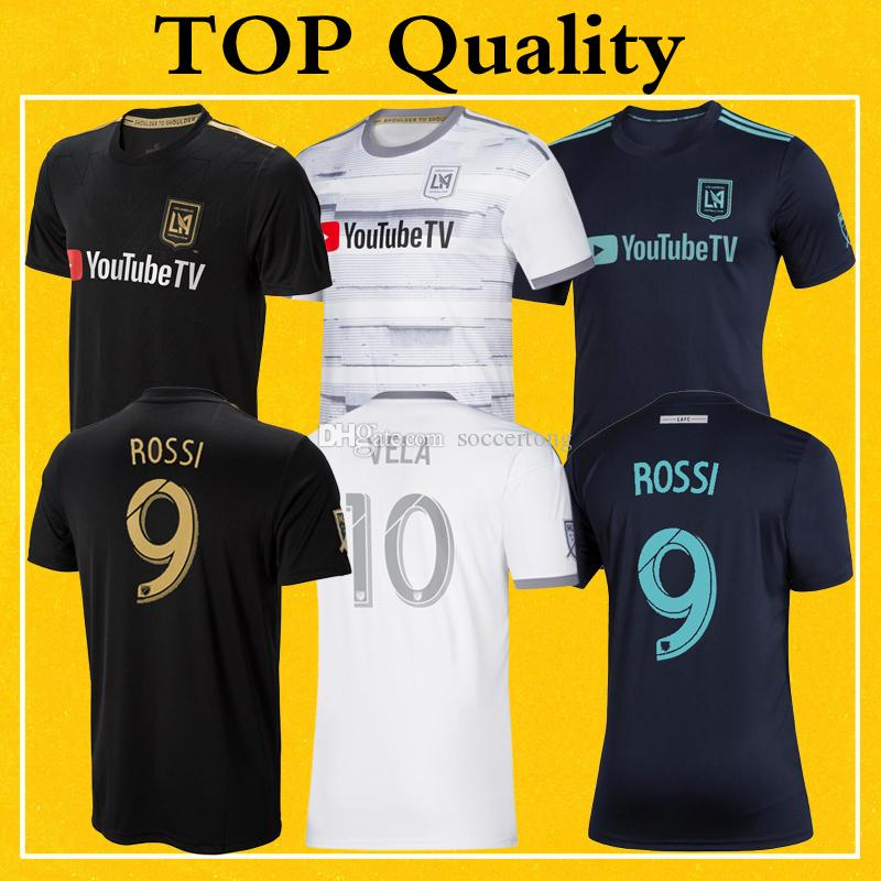 LAFC Parley Jerseys MLS 2019 Soccer Shirt Home Away Los Angeles FC ROSSI VELA ZELAYA Top Quality More 10pcs Free DHL Shipping