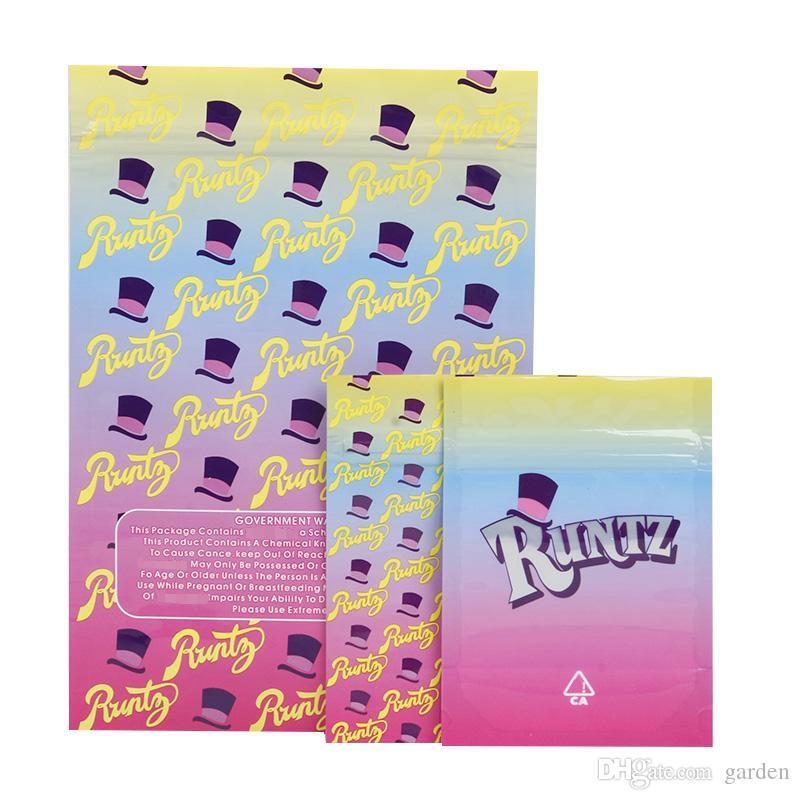 Runtz Joker Up ridacchia Esotici Gusher Gasolina Flamegrowers Cali Plug Carts Cookies Collegato Imballaggio sacchetti della chiusura lampo della confezione