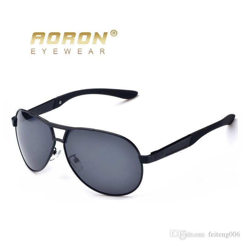 96efbec1ca AORON Gafas Para Hombre Gafas De Sol Polarizadas Hombre 2018 Gafas HD Del  Conductor Espejo Polarizado Gafas De Sol Metal Gafas De Sol Masculino #  16035 Por ...