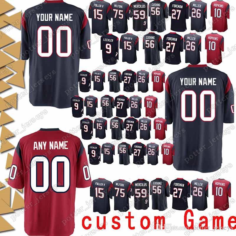 buy popular dfed8 89628 Houston 97 Angelo Blackson Texan Jersey custom Game 51 Dylan Cole 8 Trevor  Daniel 73 Zach Fulton 38 Buddy Howell 74 Kendall Lamm Jerseys