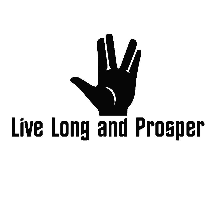 15*8.3cm Live Long And Prosper Car Sticker Bumper Decor Waterproof Funny Personality Stickers