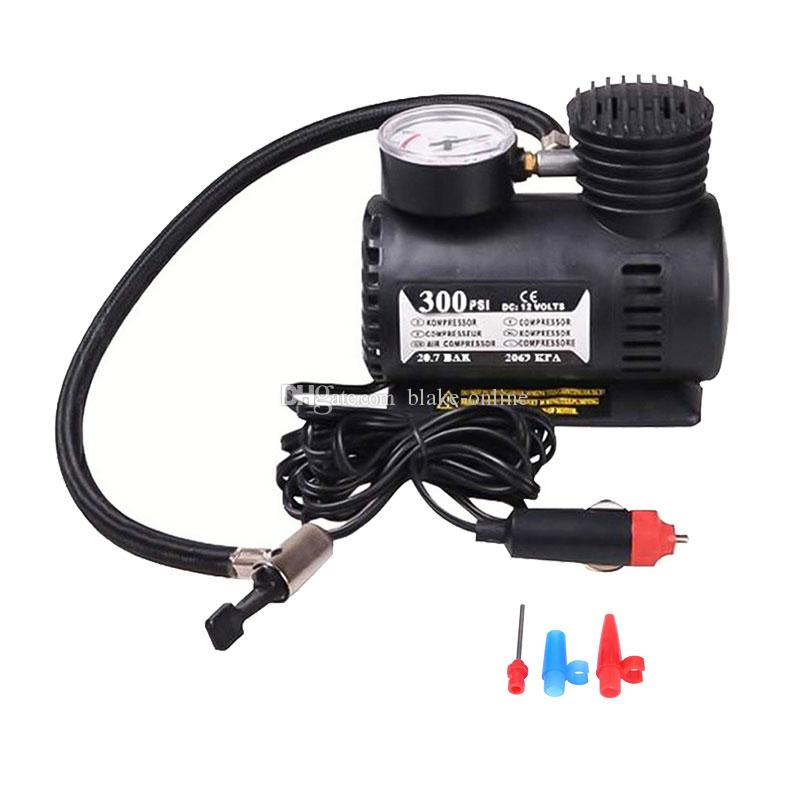 300 PSI Air Compressor 12V Car Auto Bike Portable Electric Pump Plastic+Metal