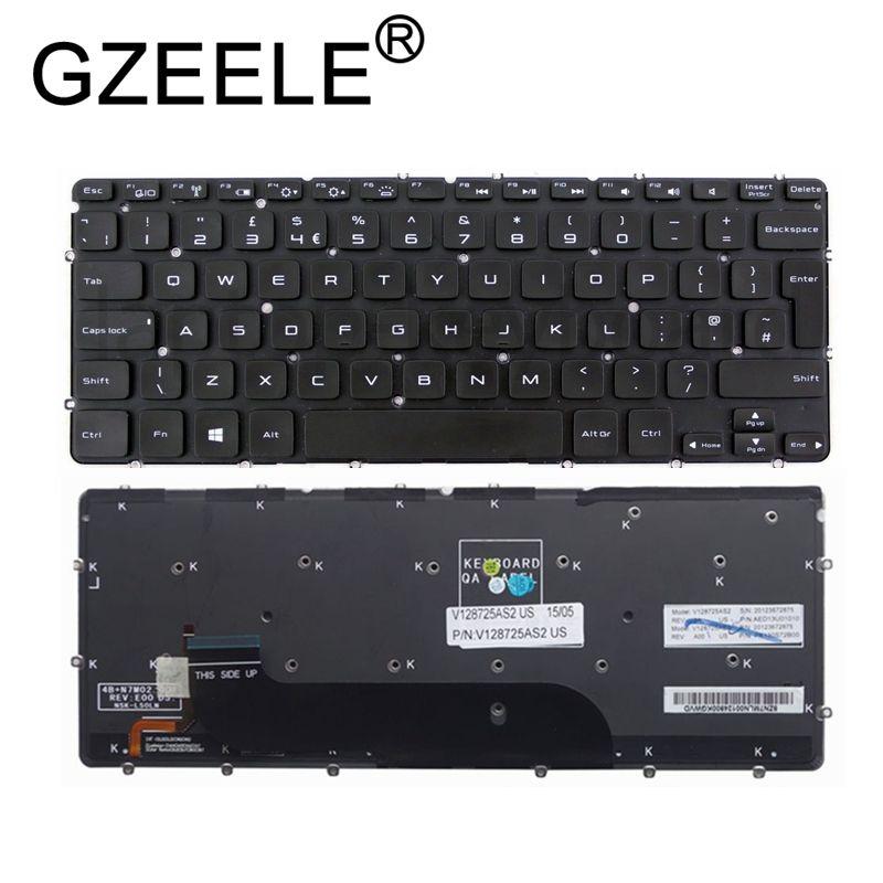 GZEELE UK backlit laptop keyboard for XPS 12 13 L321x L322x 9Q23 9Q33  QWERTY keyboard