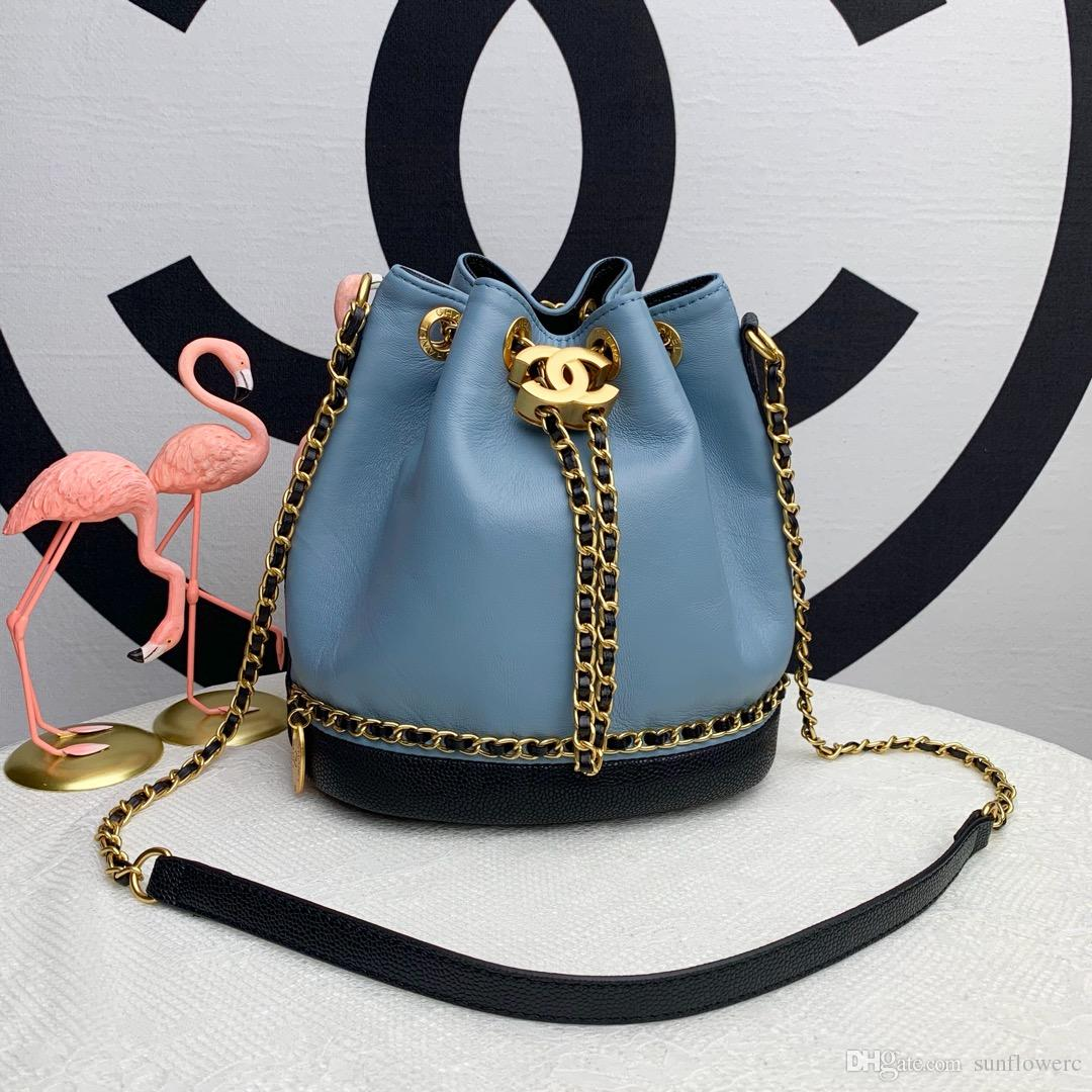 4e9c63e408760 2019 Women Sheep Soft Leather Shoulder Bag Drop Shipping Designer Ladies  Crossbody Messenger Bag With Chain Double Letter Strap Bucket Bag From  Sunflowerc, ...