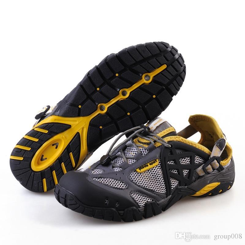 155c3221bd31 TKN zapatos de senderismo de verano de los hombres zapatos de secado rápido  a prueba de agua de malla de playa al aire libre senderismo sandalias ...