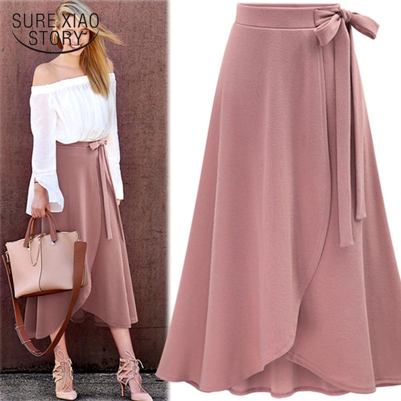 2018 New Arrival Autumn High Waist Irregular Open Fork Skirt Solid Fashion Mermaid Skirt Causal Wear Soft Fabric 1191 40 J190628